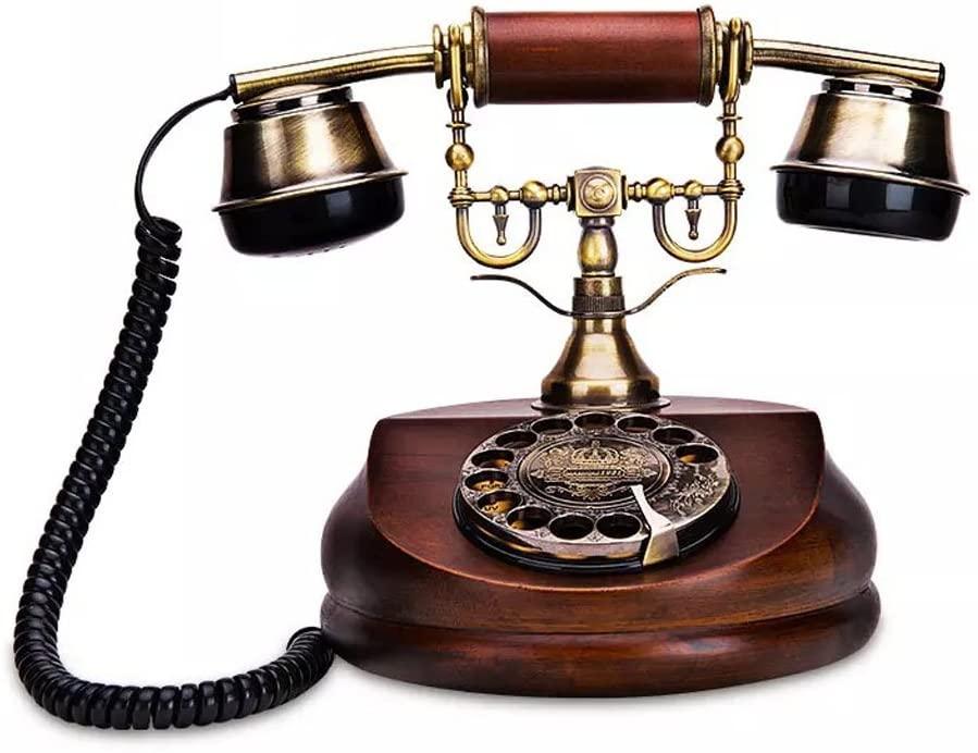 ZYC European Retro Telephone Rotary Dial Antique Landline Home Office Creative Decoration Fixed Telephone