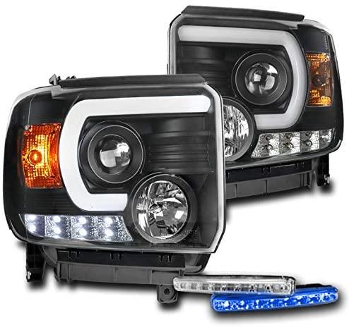 ZMAUTOPARTS LED Black Projector Headlights w/6