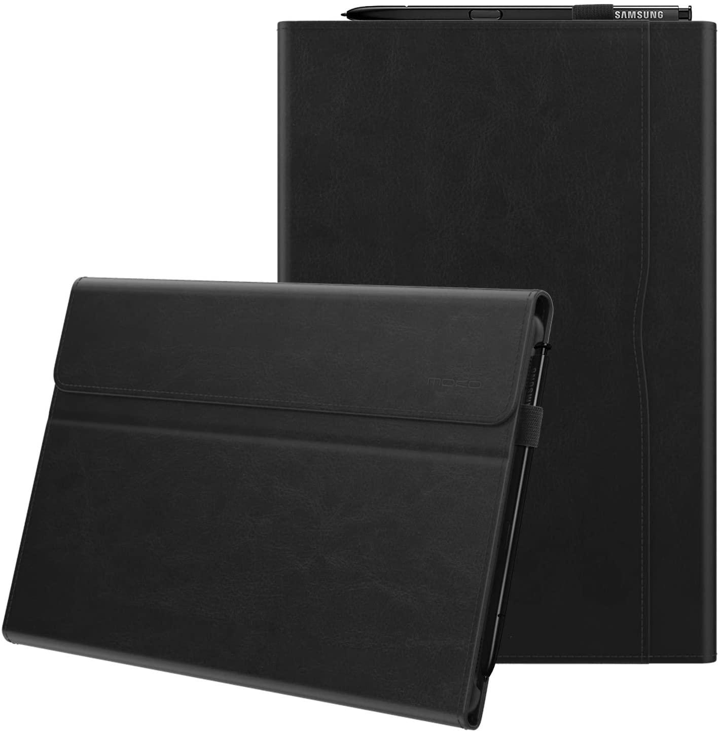 MoKo Case Fit Samsung Galaxy Tab S5e 2019, Ultra Lightweight Portfolio Business Cover with Document Card Slots and Auto Wake & Sleep for Galaxy Tab S5e SM-T720/SM-T725 2019 Tablet - Black