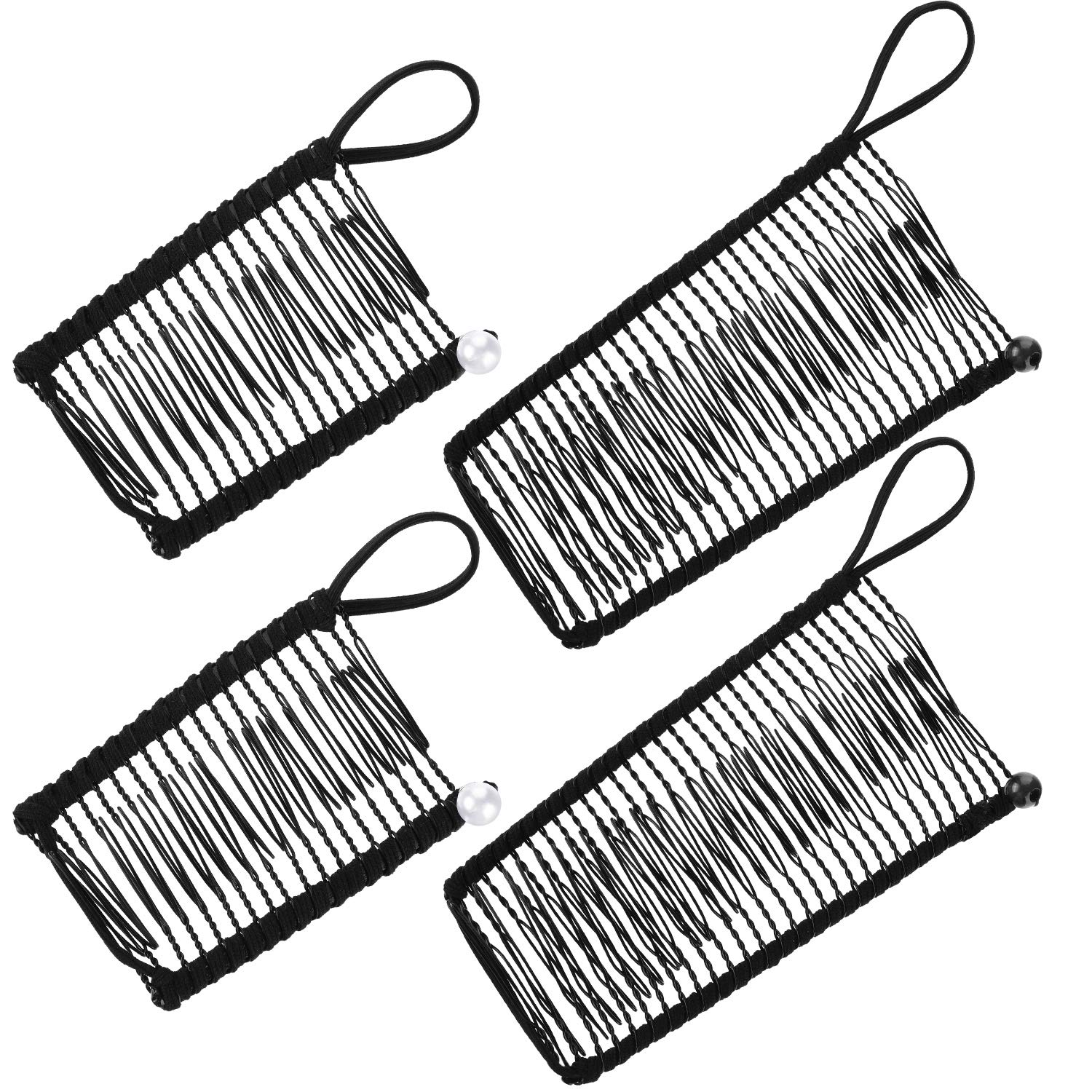 4 Pieces Banana Hair Clips Clincher Comb Banana Hair Grip No Crease Hair Clips for Natural Curly Thick Wavy Hair Ponytail Style and Up-do