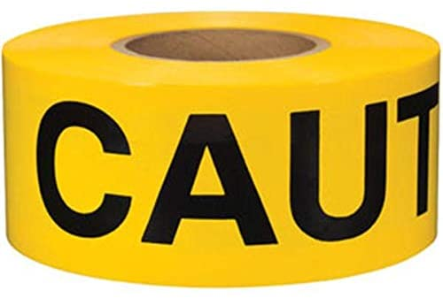 PRESCO B31022Y9 CAUTION DO NOT ENTER yellow tape