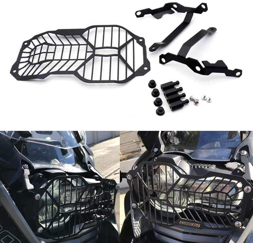 QYA Headlight Protective Grid Cover Easy to Disassemble Stainless Steel for B.M.W R 1200 GS 2013-2018, R 1200 GS ADV Adventure Motorcycle Accessories Sturdy Material