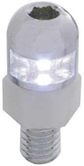 United Pacific 70303 White LED License Plate Fastener W/Stainless Steel Housing (Set of 2)