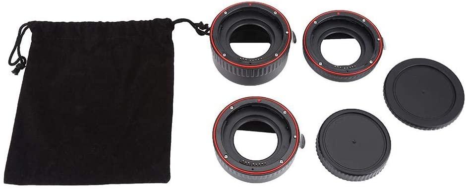 Senyar Macro Adapter Lens,Metal Auto Focusing Macro Extension Lens Adapter Tube Rings Set for Canon EOS EF Mount
