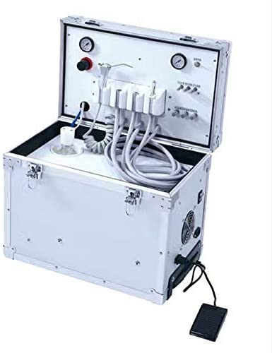 APHRODITE 60L Lab Portable Turbine Unit Built-in Type Air Compressor 4Holes