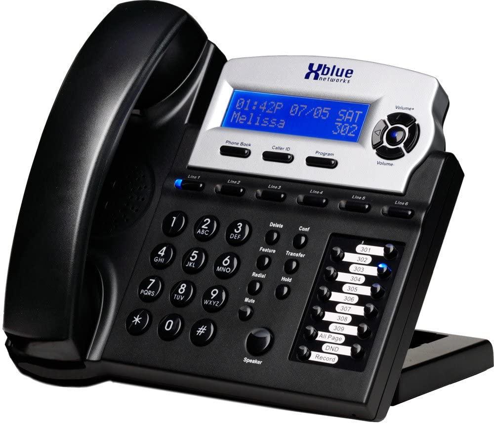 Xblue X16 Small Office Phone System 6 Line Digital Speakerphone (XB1670-00, Charcoal)