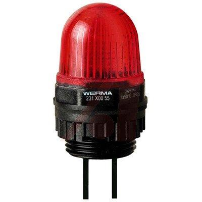WERMA 23110055 LED Permanent Beacon EM 29mm Diameter 24VDC Red