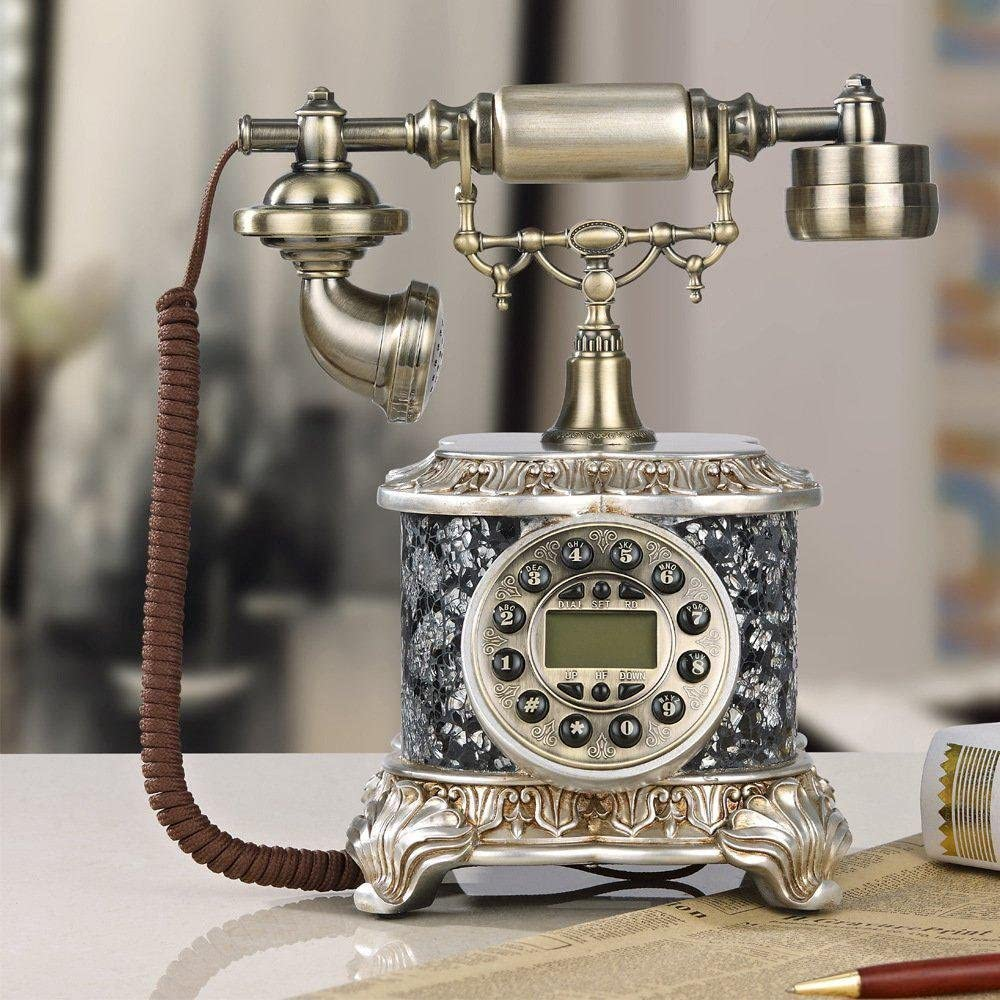 European-style broken glass decoration fixed old-fashioned machine fashion antique phone office phone