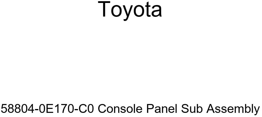 TOYOTA Genuine 58804-0E170-C0 Console Panel Sub Assembly