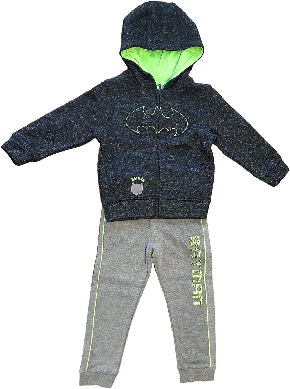 Batman Toddler Boy Pullover Hoodie Sweatshirt & Jogger Pant, 2pc Outfit Set