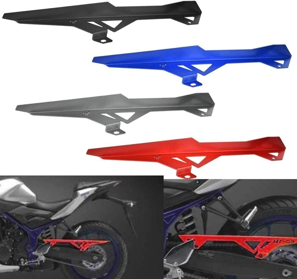 QYA Motorcycle Motorbike for Yamaha MT03 Rear Back Drive Chain Guard Mud Cover Panel Shield Fairing Cowl Protector for 2015-2016 Yamaha MT-03 (Color : Blue)