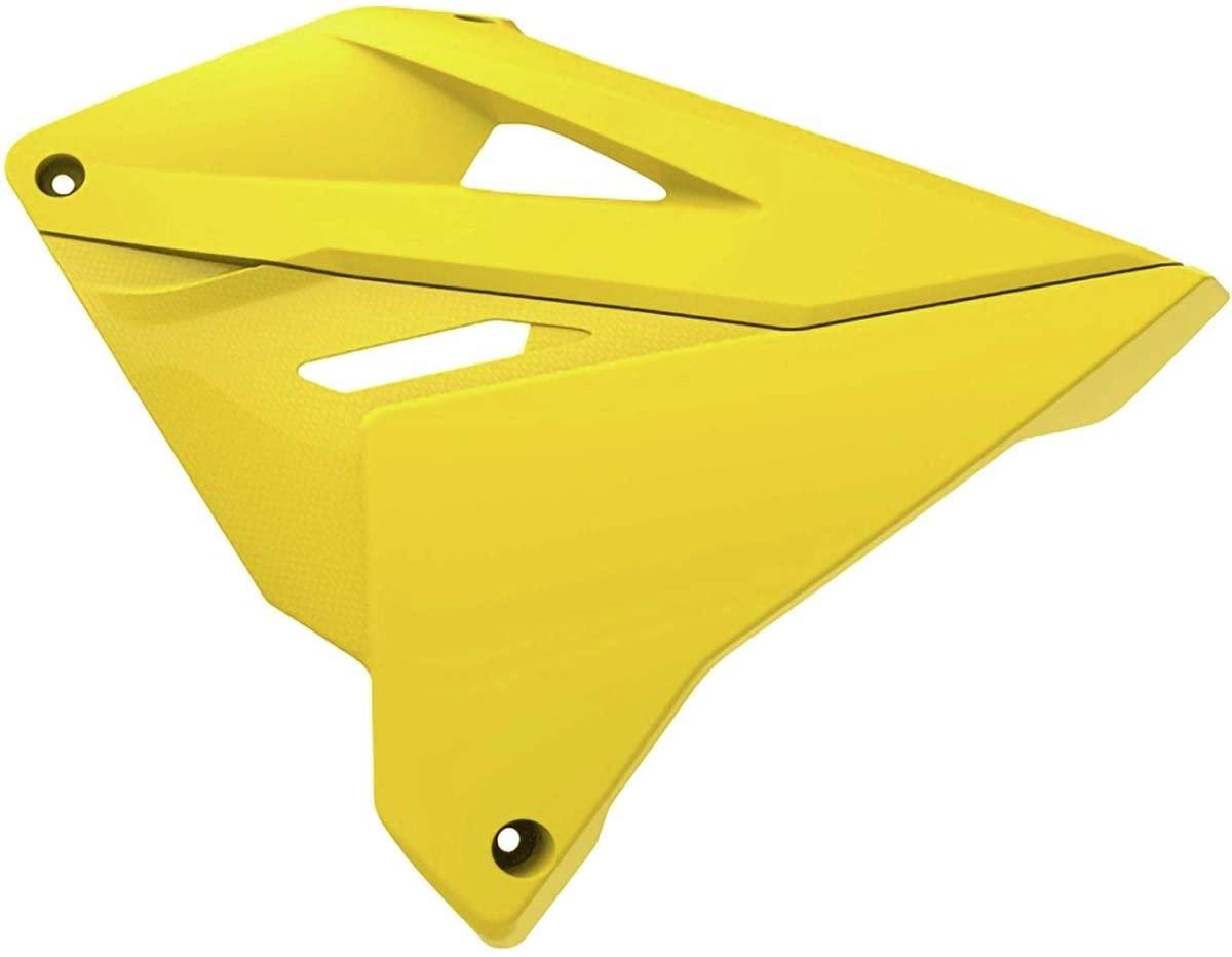 Polisport Radiator Shroud Set (Restyle ('19)) (Yellow/Yellow) for 01-08 Suzuki RM250