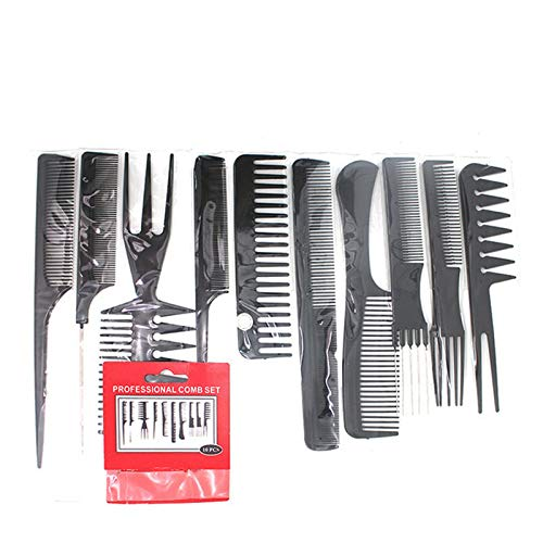 10PCS Professional Hairdressing Comb Set,Anti Static Styling Comb For Men Women Hair Styling Comb for Hair