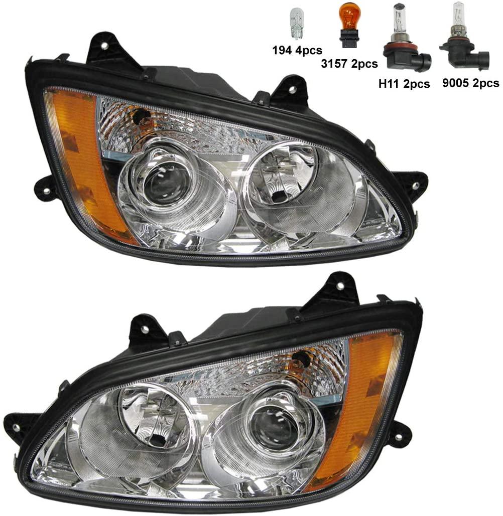 Headlight - Driver and Passenger Side (Fit: Kenworth T660 T600 T370 T270 T170 T470 T440 T700 Trucks)