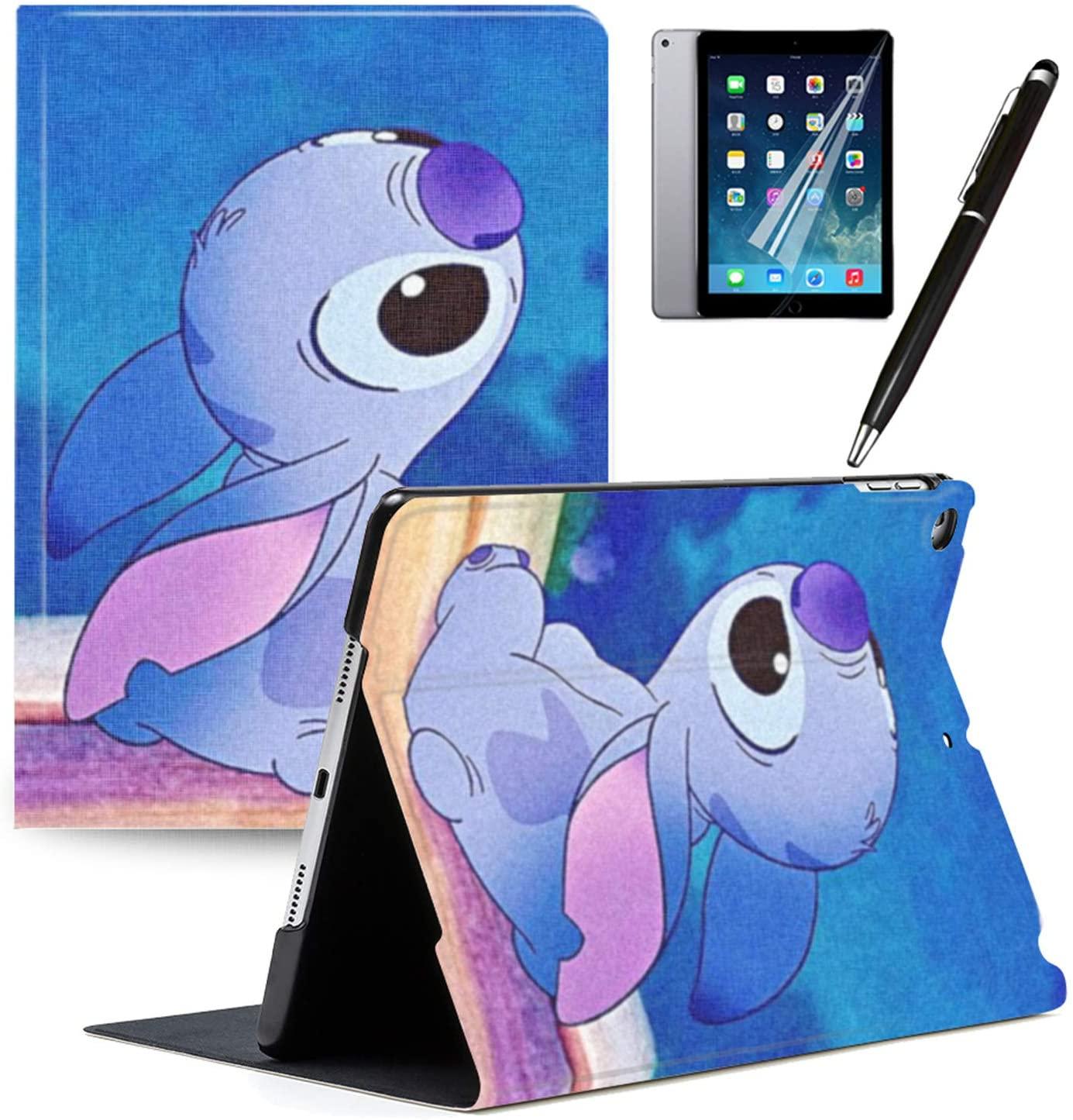 iPad 2018(6th Gen) iPad 2017(5th Gen) Case Cartoon Lilo & Stitch Cartoon Protection Lightweight PU Leather Smart Auto Sleep/Wake Cover Also Fit iPad Air 2 / iPad Air#A