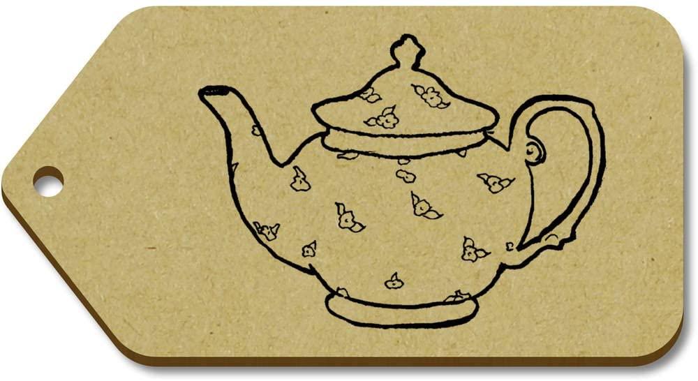 Azeeda 10 x Large 'Teapot' Wooden Gift Tags (TG00012373)