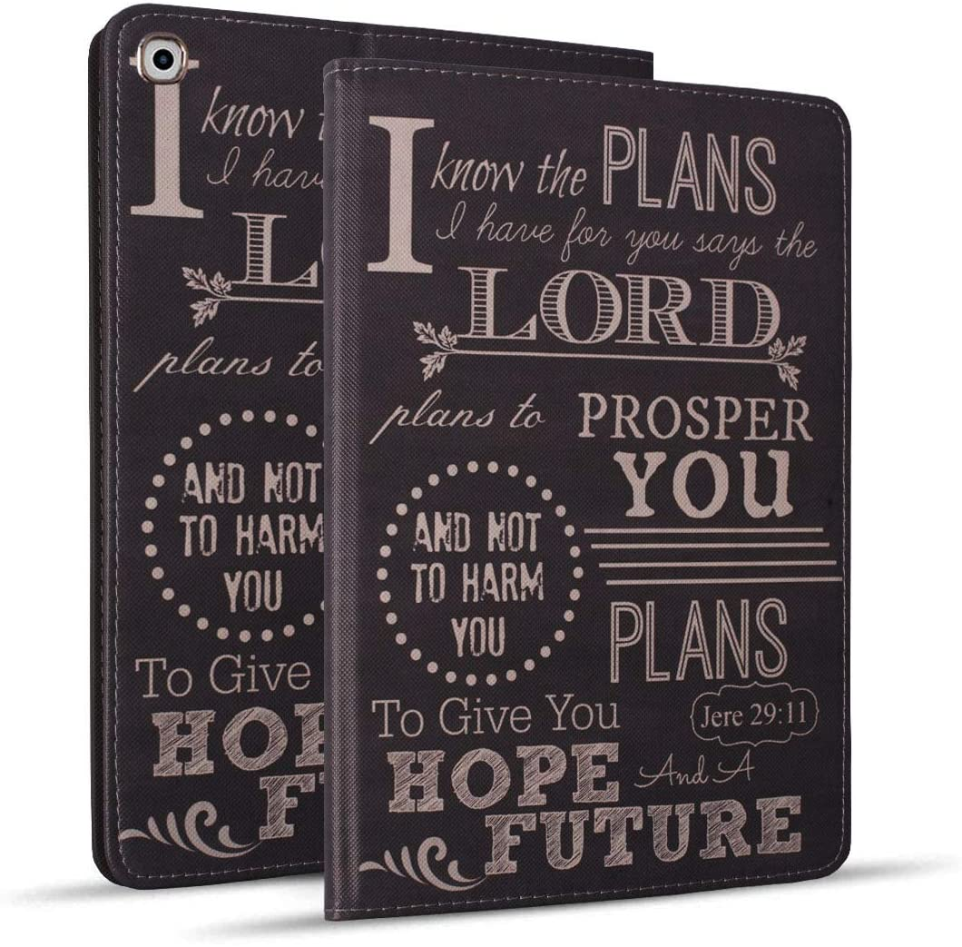 New iPad 10.2 inch (2019), iPad 7th Generation Case 10.2 inch, Protective Leather Case, Adjustable Stand Auto Wake/Sleep Smart Case for iPad 10.2 inch (2019) - Quotes Bible Verse Jeremiah 29:11