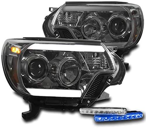ZMAUTOPARTS LED Smoke Projector Headlights Headlamps with 6