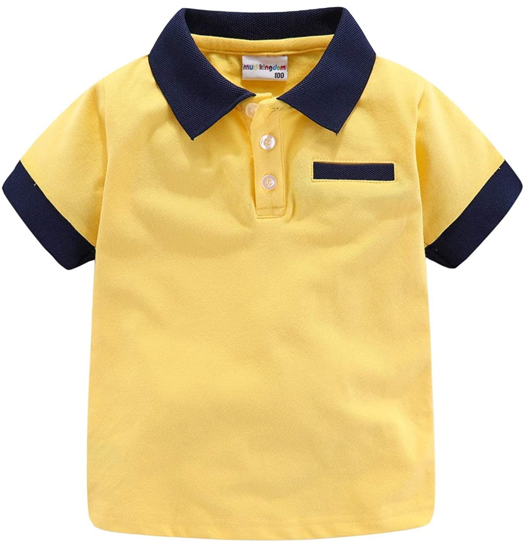 Mud Kingdom Little Boys Polo Shirt Cute Stripe Summer