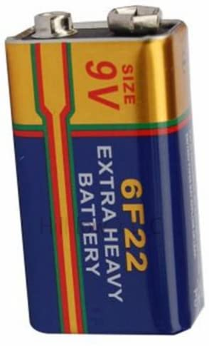 Hillflower 30 pcs 6F22 6LR61 Bulk 9V Carbon Zinc Premium Battery