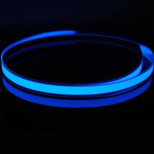 Amicc 3ft 1m Neon Glowing Strobing Electroluminescent Robbin El Tape Belt (3ft, Blue)