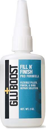 GluBoost Fill N' Finish Pro Formula Flexible Finish, Filler, Ding Repair Solution
