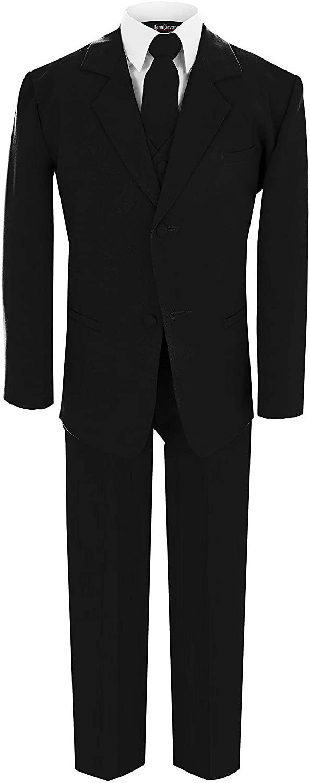Gino Giovanni Wedding Boy Formal Suit Black Size 12