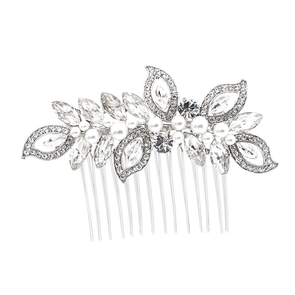 Rhinestone Crystal Wedding Bridal Hair Side Comb Women Hair Accessories Jewelry FA5093