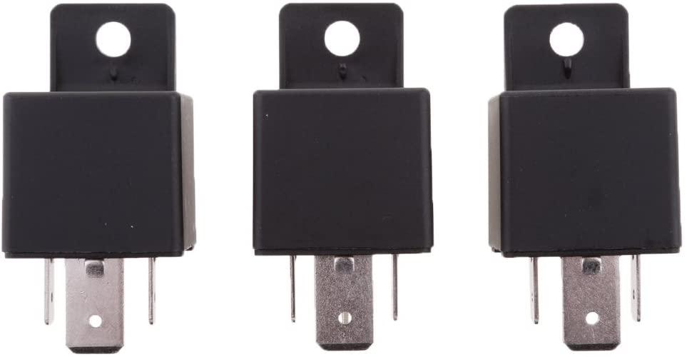 yotijar 3 Pieces 24V Coil 80A 4 Pins SPST Car Automotive Alarm Security Power Relays