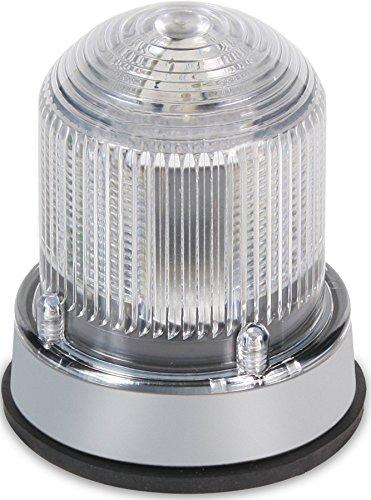 Edwards Signaling 125XBRMW24D XTRA-BRITE LED Multi-Mode Beacon, Steady-On/Flashing, 24V DC, White