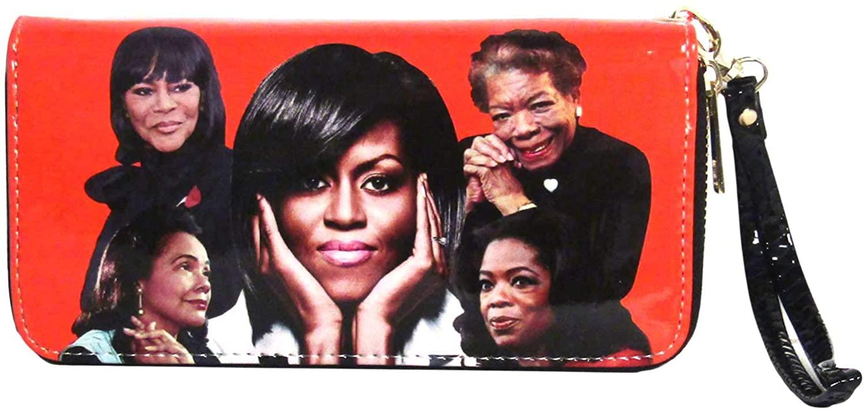 Tigerstars Orange Michelle Obama Family And Friends Wristlet Wallet