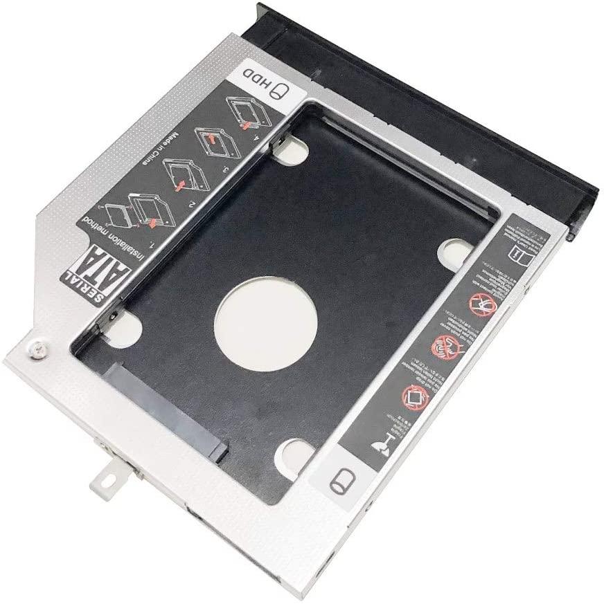 NIGUDEYANG 2nd HDD SSD Hard Drive Optical Frame Caddy Adapter for Lenovo G40-30 45 75 G40-70 G40-80 G50-80 G70-80 with Bezel Front Panel Faceplate Metal Bracket Holder