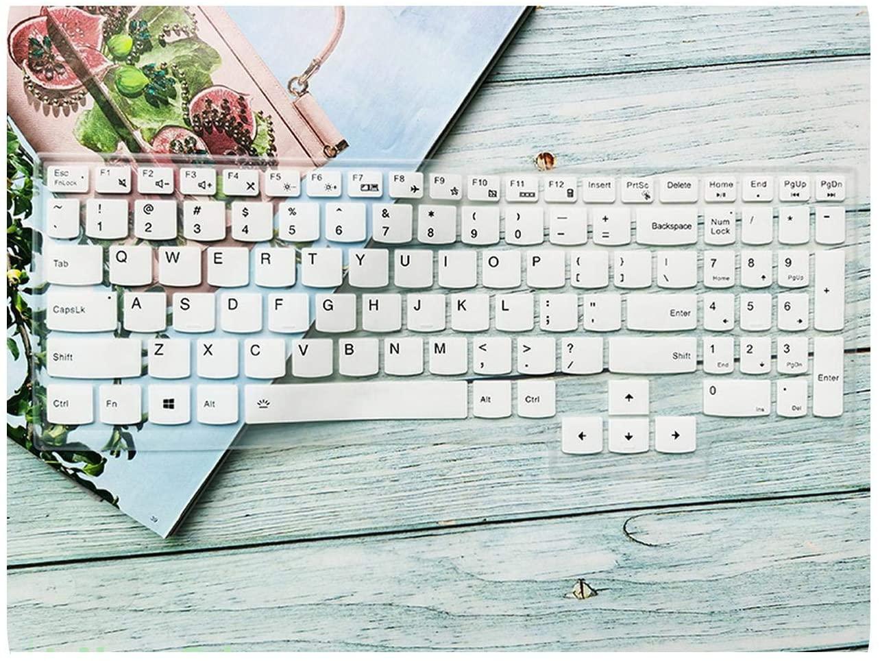 Silicone Keyboard Cover Skin for 15.6 Inch Lenovo Legion 5 15 2020 Y7000P R7000P R7000 Y7000 Legion5 Laptop Protector 15 inch-White-