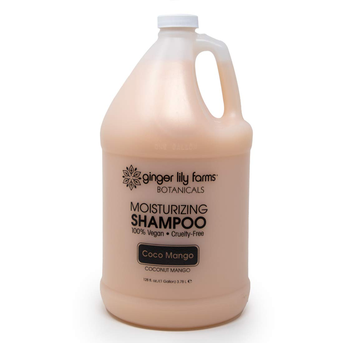Ginger Lily Farms Botanicals Coco Mango Moisturizing Shampoo, 100% Vegan, Paraben, Sulfate, Phosphate, Gluten and Cruelty-Free, 1 Gallon