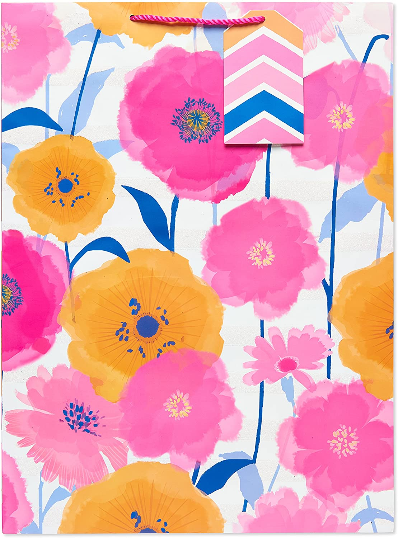 American Greetings Jumbo Gift Bag, Pink/Orange