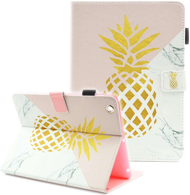 iPad 4th Generation Case, iPad 4 Case, iPad 3/2 Case, Fvimi Multi-Angle Viewing Folio Stand Smart Leather Cover with Auto Sleep/Wake for Apple iPad 2, iPad 3 & iPad 4th Generation, Cute Pineapple