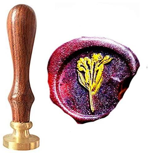 CTEB Burdock Root Nature Flowers Wreath Wax Seal Stamp Kit Decorating Gift Cards Weding Invitations Envelopes Letetrs Sealing Wax Seal Stamp