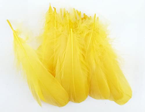 Colorful Goose Feathers, for DIY Craft Wedding Home Party Decorations 50pcs/pack/ (4--7.8 inch) (Orange)