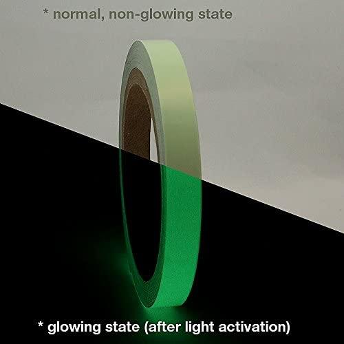 J.V. Converting GLW-24/LLGRN0510 JVCC GLW-24 Professional Glow in The Dark Tape, Luminescent Lime Green