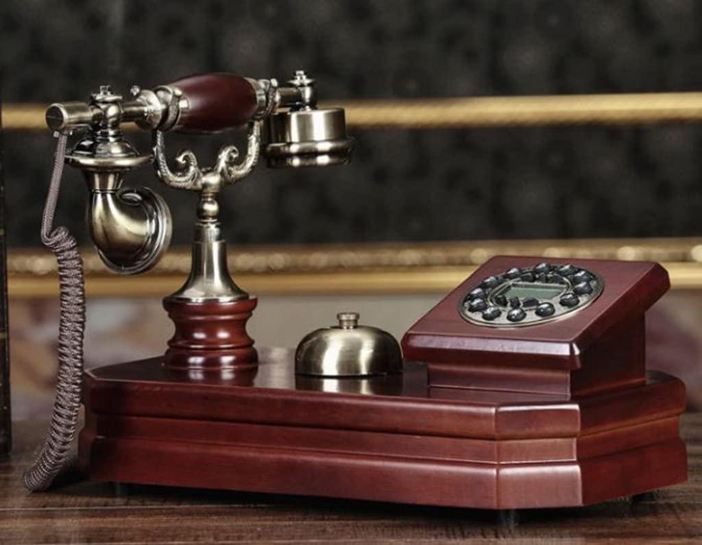 ZJM Antique Phone - Solid Wood Body/Mechanical Retro Ringtones/Creative Fashion Home Office Fixed Phone 34x19x24.5cm Antique Phone (Color : #1)