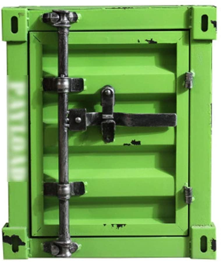 Safes Safety, retro box iron cabinet locker display cabinet - light green - safe -40X38X48cm Insurance box Safes