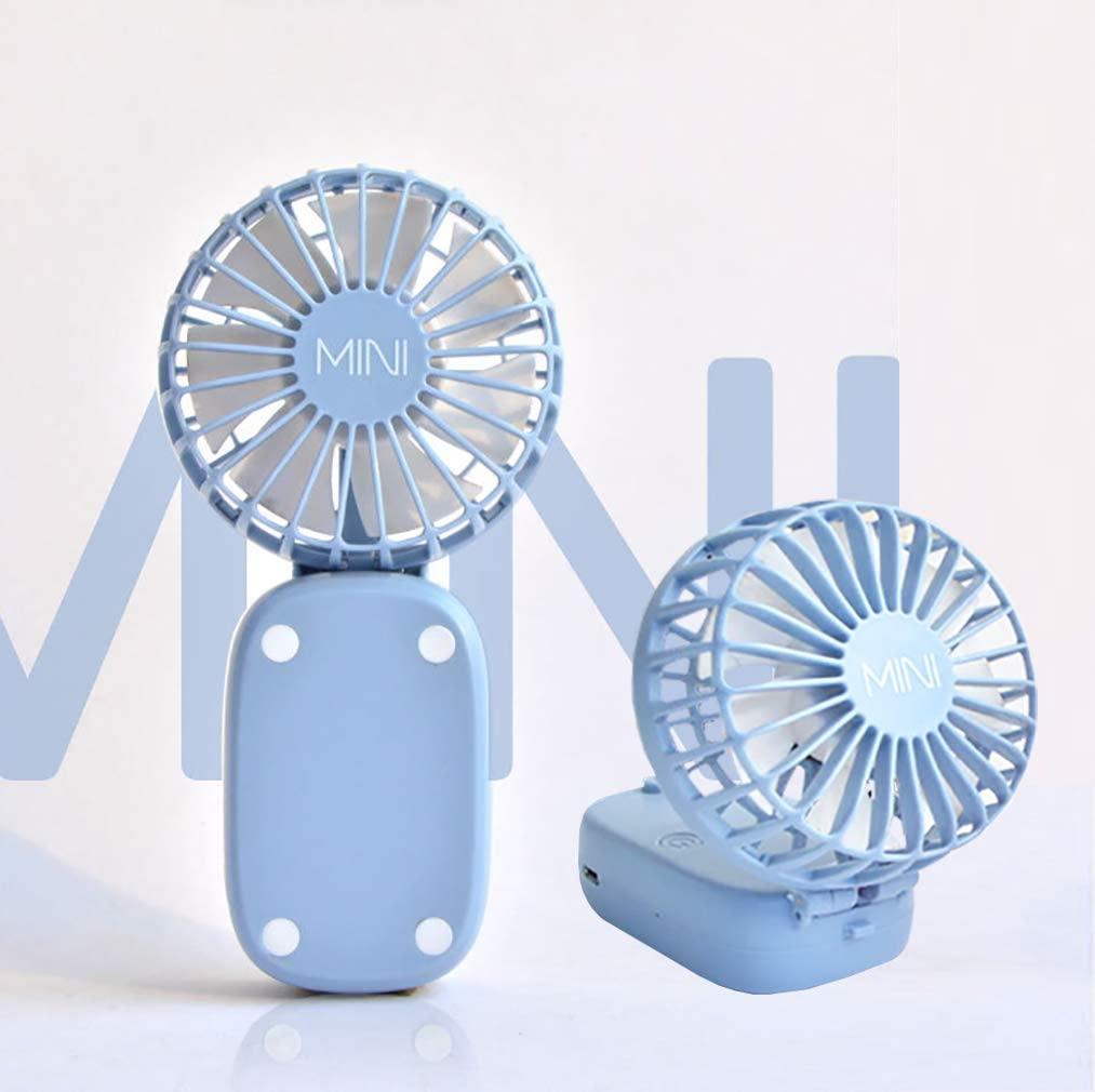 Hand Free Mini USB Personal Fan - Portable Desk Fan Small Quiet Handheld Fan for Office,Sports,Outdoor,Home, Travel