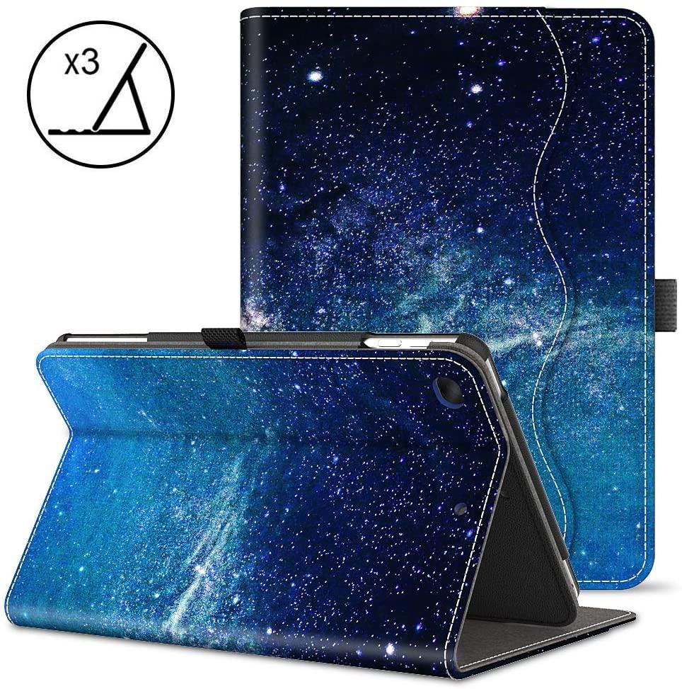 VORI iPad 9.7 Case 2018/2017 iPad Case - Folio Stand Smart Cover 5th 6thGenerationipadCover Fit iPad Air 2 / iPad Air, Galaxy