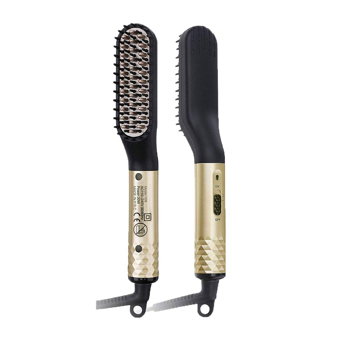 Beard Straightener for Men,Electric Beard Straightening Comb,Fast Shaping for Curly Long Beard Grooming and Hair Styling,Dual Voltage110-240V for Home Travel