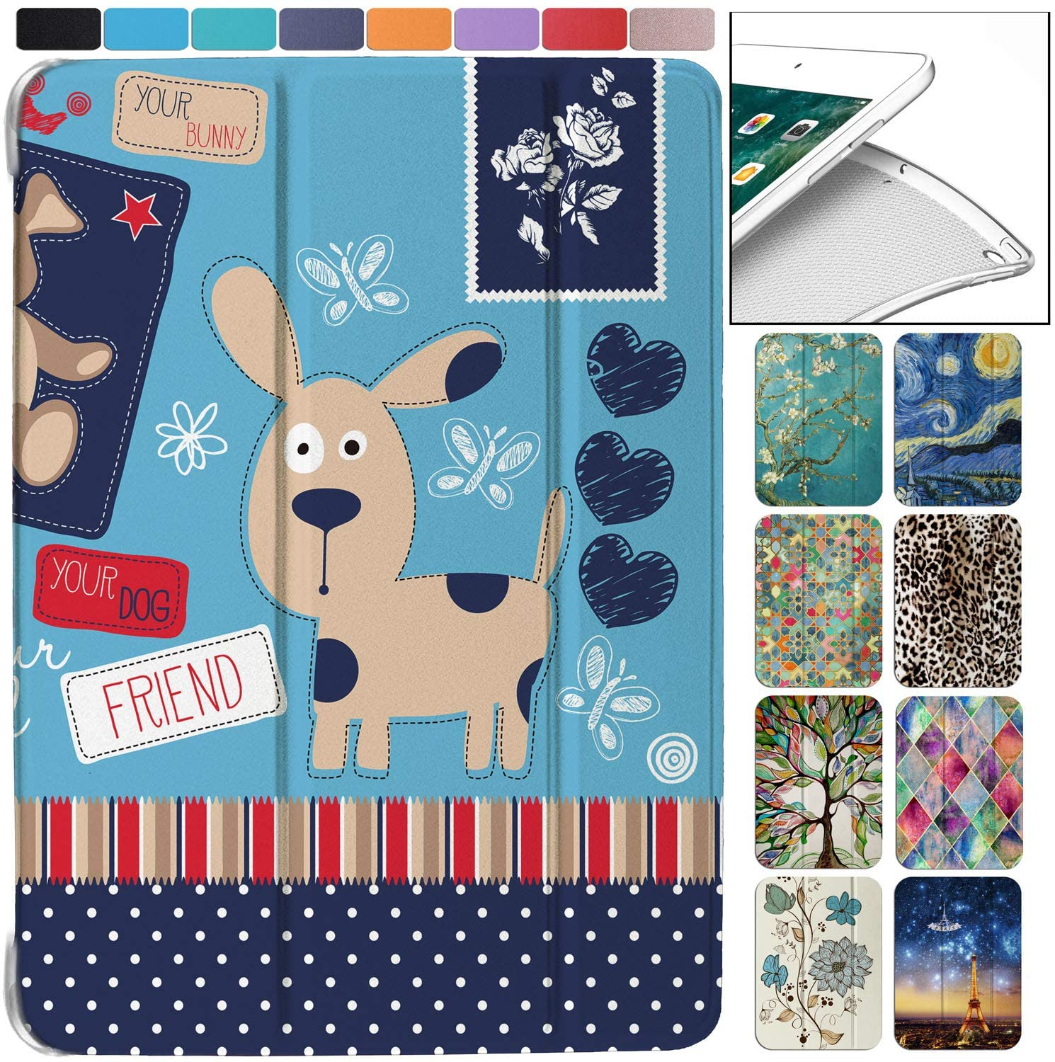 DuraSafe Cases for iPad Mini 5th Gen 2019-7.9 MUQY2LL/A MUQW2LL/A MUQX2LL/A MUU62LL/A MUU32LL/A Ultra Slim Energy Saving Printed Case with Adjustable Stand Feature and Sleek Design - Puppy Friend
