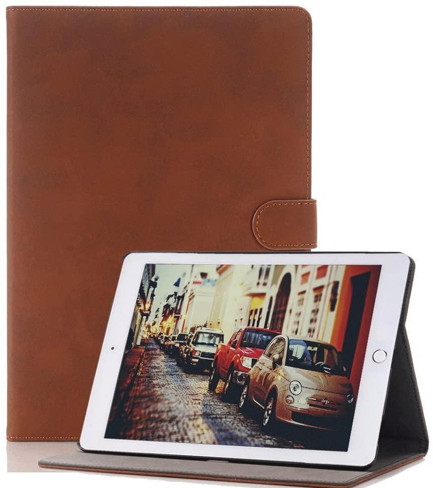 Case for iPad Mini 4 7.9, elecfan Smart Slim Shell PU Leather Protective Case Cover Light Weight Folio Cover Built-in Magnet Sleep Wake for iPad Mini 4/ Mini 5,Dark Brown