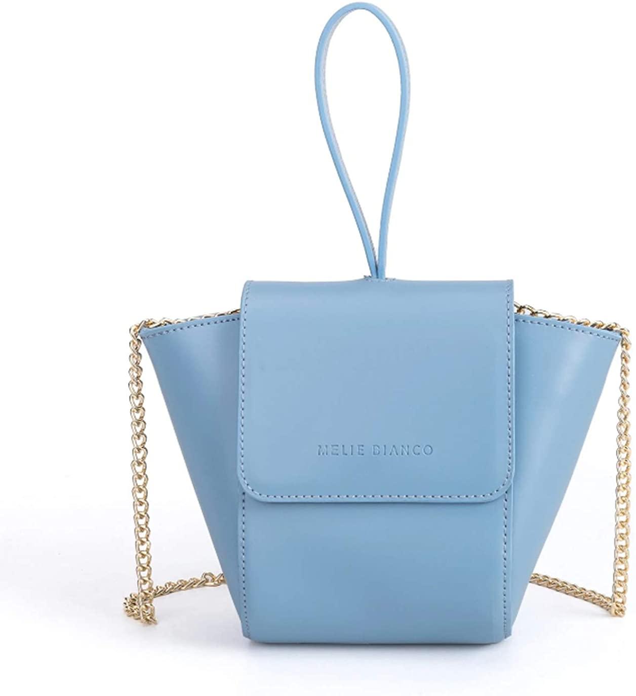 Melie Bianco Adele Vegan Leather Ring Wristlet Crossbody Bag, Blue