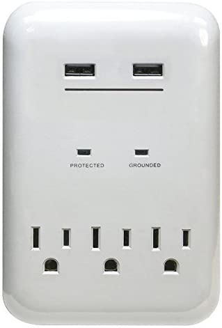 PRIME 3-Outlet 950 Joules General Use Surge Protector with USB Charger