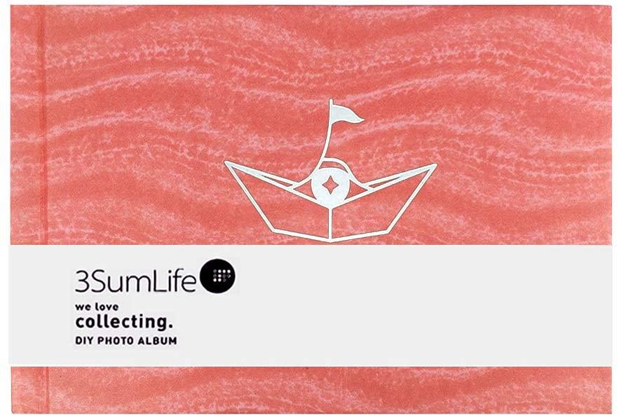 3SumLife Scrapbook Polaroid Photo Album DIY Fujifilm Instax Album Hard Cover Memory Book with Accessories for Christmas Wedding Valentines Day Birthday Anniversary Gift 3M(peach)