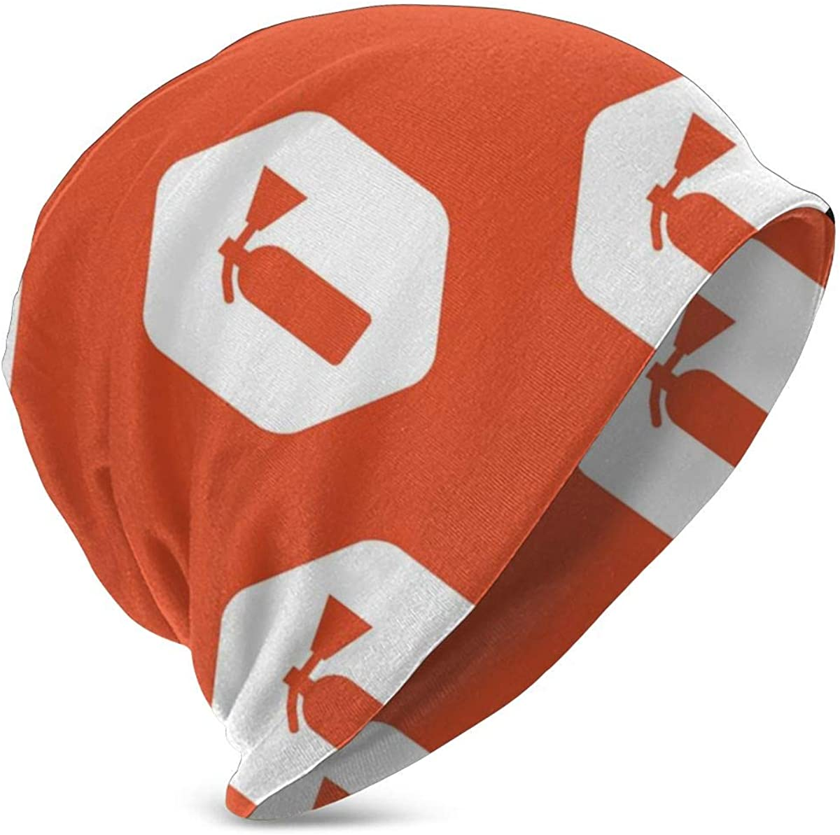 Orange Hexagon Fire Extinguisher Child Warm Winter Hats Premium Slouchy Knit Beanie Cap